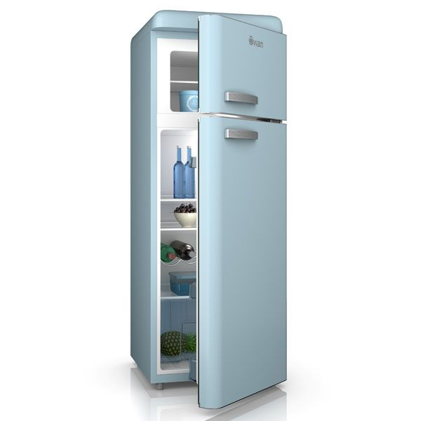 retro blue fridge freezer by swan kitchen sky blue pinterest hauts cygnes et bleu. Black Bedroom Furniture Sets. Home Design Ideas