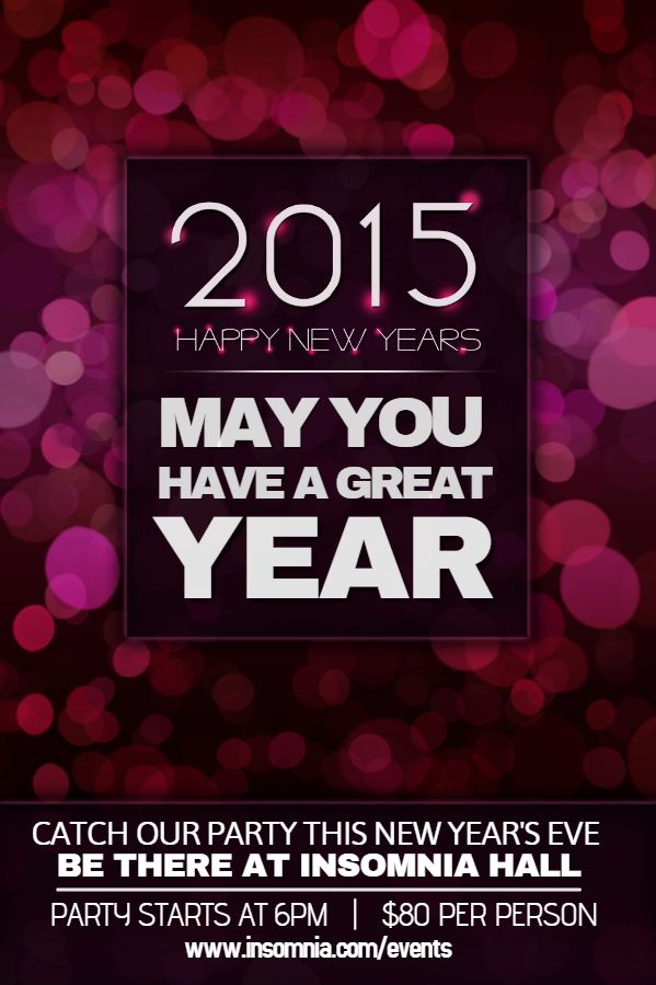 28 best New Year Flyer Templates images on Pinterest Flyer - new year poster template