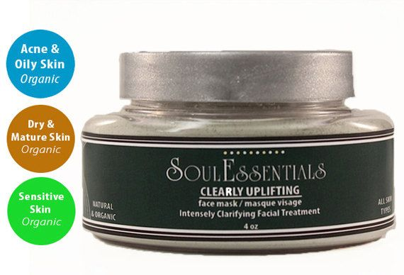 Organic Neem Face Mask  Detox for Acne & by SoulEssentialsSkin