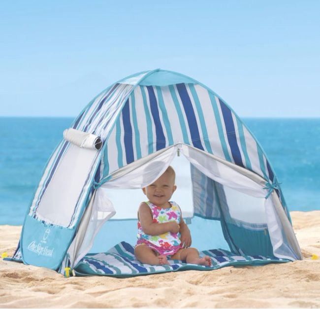 . Sun Smarties Infant Cabana: This UPF 50+ cabana pops up and folds down quickly. It's a great place for a baby to take a break from the sun or even take a nap; $50.