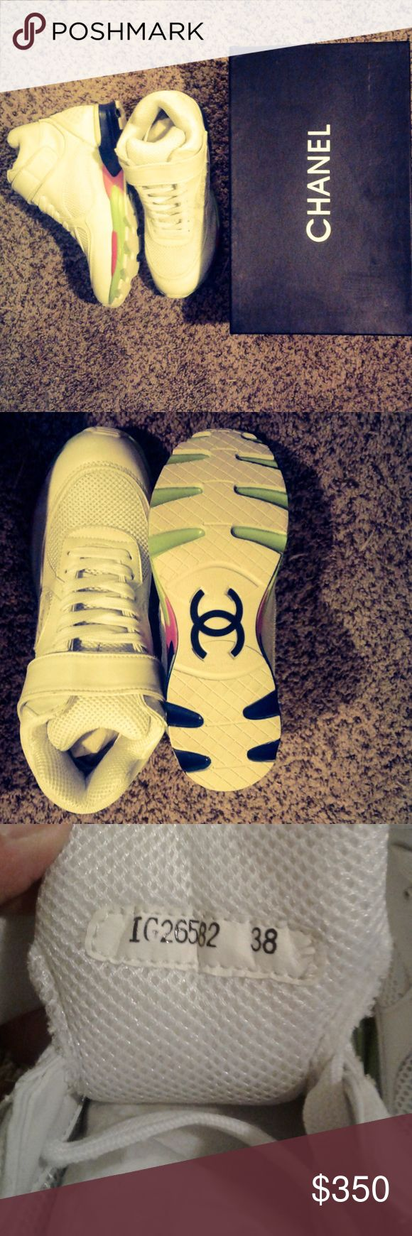 Christmas sale! 💞Chanel Tennis Shoes. Authletic. Brand new. Size: 8. I have only 2 pair white sneakers. CHANEL Shoes Sneakers