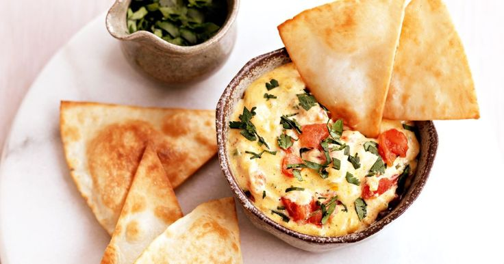 """This Mexican """"chilli with cheese"""" dip is served warm. Dunk in tortilla toasts and enjoy the rich creaminess."""