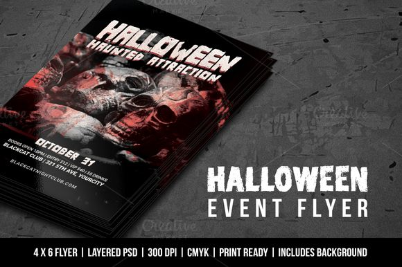 Halloween Event Flyer by Vital Zigns on @creativemarket
