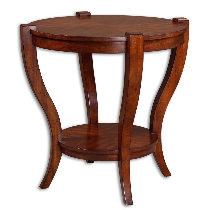Sleek Legs Carved From Solid Poplar, With Book Matched Cherry Veneer Top In Warm, Antique Pecan Finish.