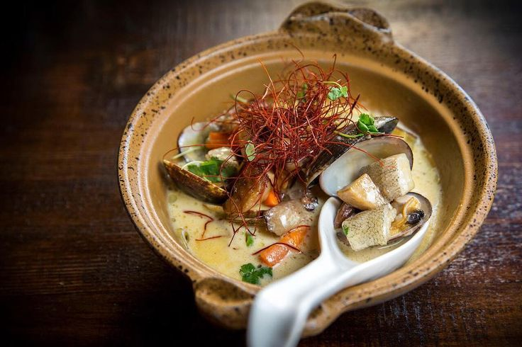 MISO CLAM CHOWDER (filled with Manila clams, bone marrow, chopped ...