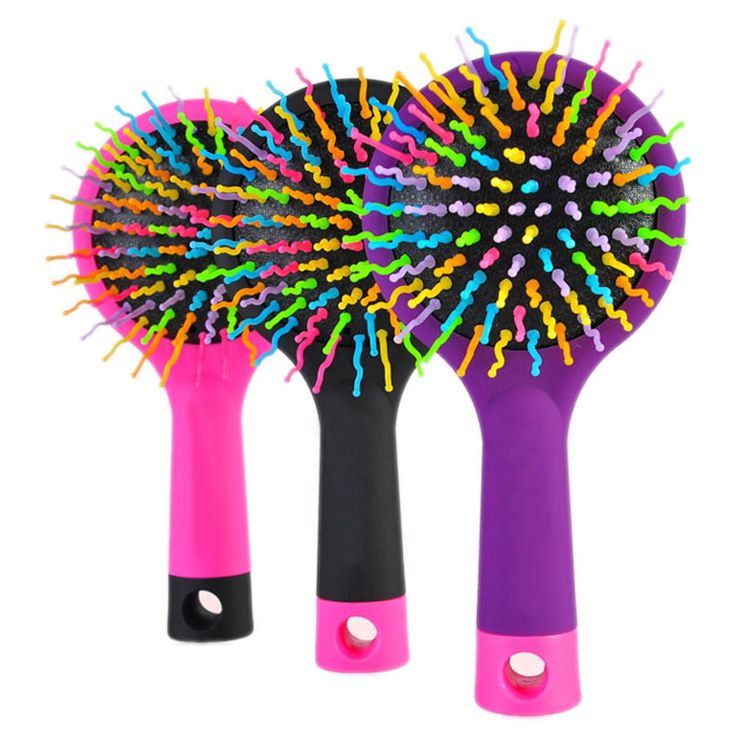 1.72$ (Buy here: http://alipromo.com/redirect/product/olggsvsyvirrjo72hvdqvl2ak2td7iz7/32584799324/en ) 1 Piece Hot Selling Rainbow Volume Anti-static Magic Hair Curl Straight Massage Comb Brush Styling Tools With Mirror HB88 for just 1.72$