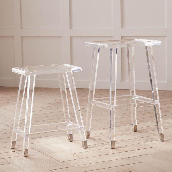 Excellent Square Acrylic Stool Acrylic Modern Glamour Style Lucite Customarchery Wood Chair Design Ideas Customarcherynet