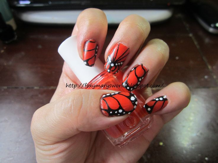 1112 best butterfly wing art more images on pinterest stamping tutorial orange butterfly wings youtube prinsesfo Gallery