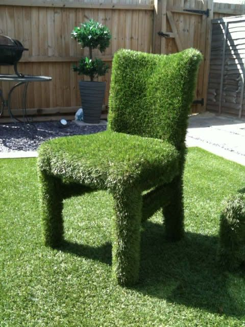 artificial grass chair