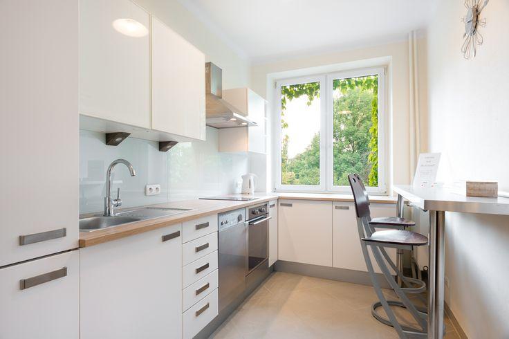 Cracoff   Chocimska 24, white beige and grey bright modern kitchen