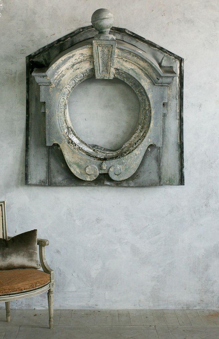 Antique 19th Century French Architectural Zinc Window