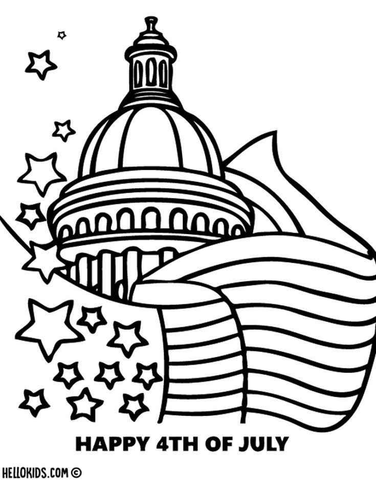 Free, Printable 4th Of July Coloring Pages Free Coloring Pages, Coloring  Pages For Kids, Flag Coloring Pages