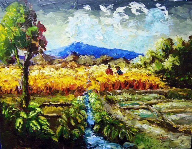 31 Gambar Lukisan Pemandangan Alam Pedesaan Contoh Wallpaper Pemandangan Alam Bagus Keren Lukisan Foto Sketsa Hitam Putih Kartun Dari B Di 2020 Seni Painting Lukisan