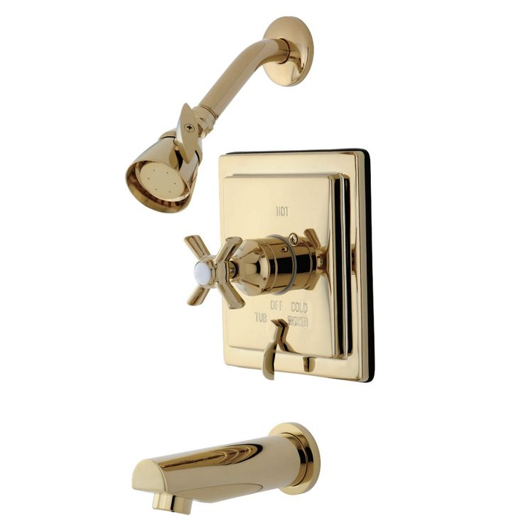 Kingston Brass KB86520ZX Tub/Shower Faucet, Polished Brass - Price: $519.95 & FREE Shipping over $99     #kingstonbrass