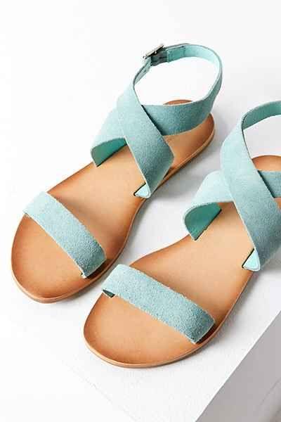 Louie Suede Ankle Wrap Sandal