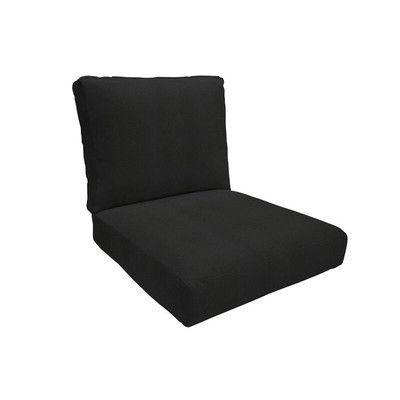 """Eddie Bauer Sunbrella Lounge Chair Cushion Fabric: Canvas Black, Size: 5"""" H x 23"""" W x 24"""" D"""