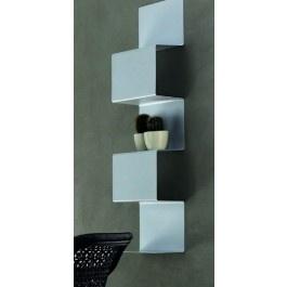 #Libreria #design a onda componibile in #metallo laccato #opaco Vari Colori fissaggio a muro