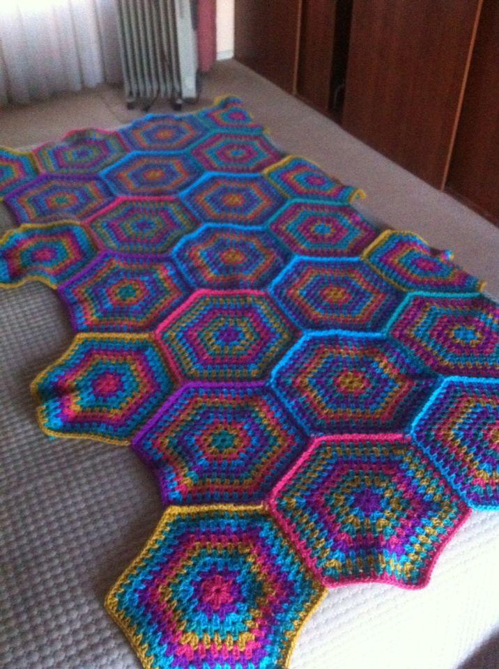 Perfecto Crochet Patrones Fronterizos Afganos Ilustración - Manta de ...