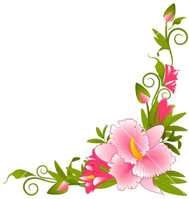 143 best Flower borders corners images on Pinterest Clip art