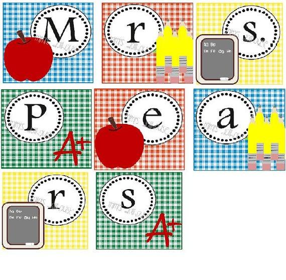 Printable Teacher Name Banner