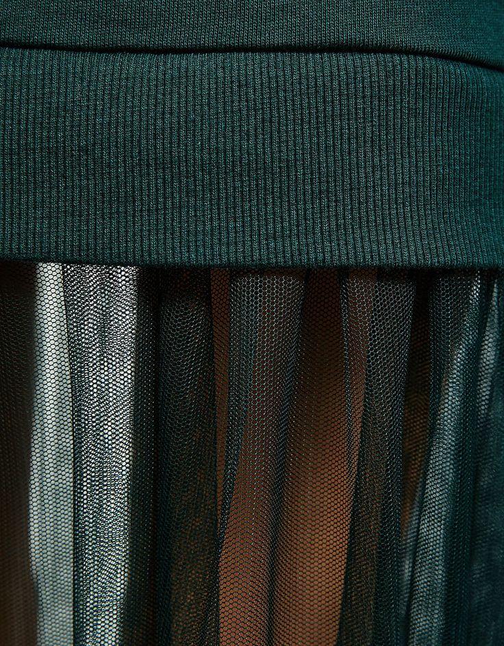 Платье с юбкой из тюля - Платья - Bershka Russia