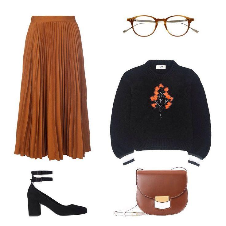 Осенние коллекции в Nevsky152! Юбка @gucci, сумка Celine, очки @ditaeyewear…