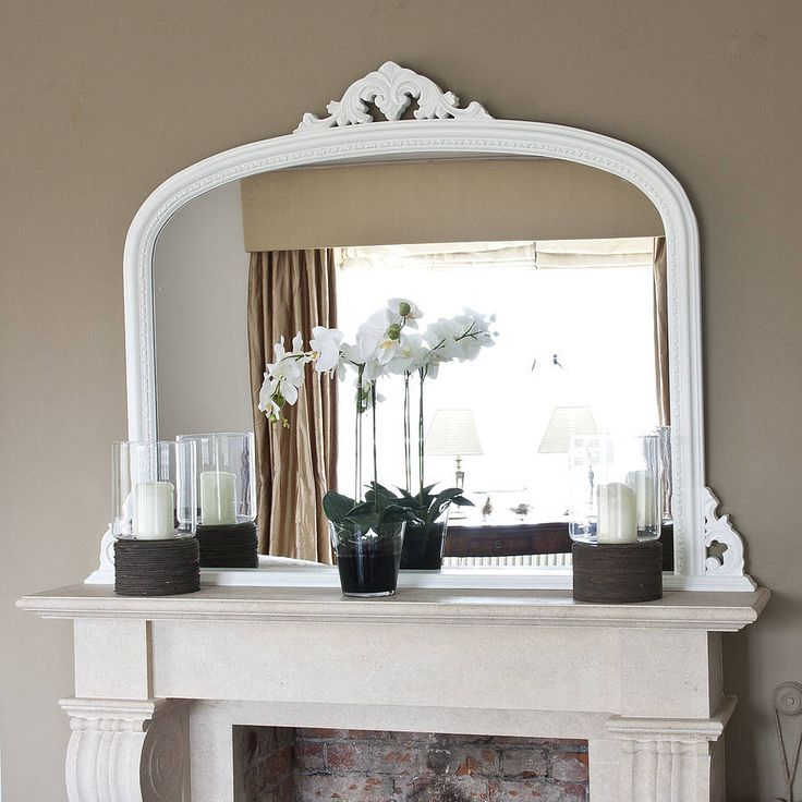 Iu0027ve Just Found White Beaded Edge Overmantel Fireplace Mirror. This Is A  Slightly