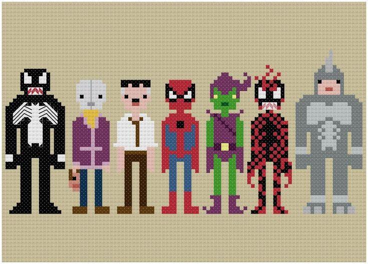 Spider-Man & Villans - Pixel People