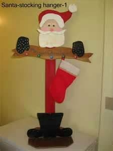 Wooden Santa Stocking stand - Bing Images