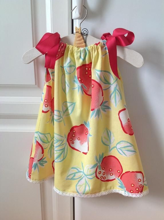 Pillowcase Dress Pattern | Sewing Ideas | Project on Craftsy: Strawberry pillowcase ...