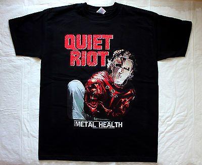 QUIET RIOT METAL HEALTH '83 HEAVY METAL GLAM HARD ROCK WASP NEW BLACK T-SHIRT - https://www.trolleytrends.com/?p=608210