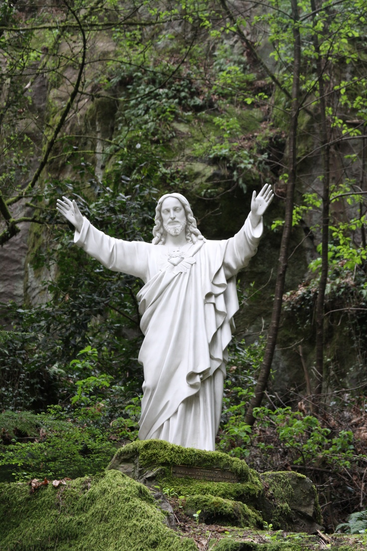 The grotto portland oregon nature places pinterest for Garden statues portland oregon