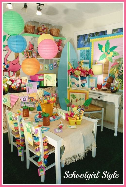 Classroom Luau Ideas : Best images about luau decor on pinterest hawaiian