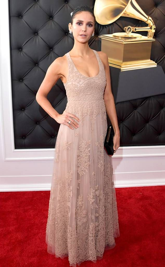 c978c34754bdf7 Nina Dobrev from 2019 Grammys Red Carpet Fashion In Dior and Harry Winston  Jewelry