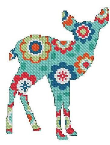 Roe Deer - Cross stitch pattern pdf format. $8.00, via Etsy.