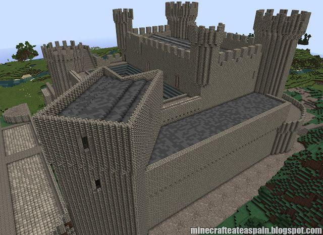 ¡MINECRAFTEATE!: Réplica Minecraft del Castillo de Olmillos de Sasamon, Burgos, España.