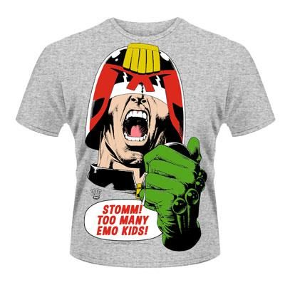 Classic Judge Dredd Too Many Emo Kids T-Shirt Officially Licensed Buy Here  http: