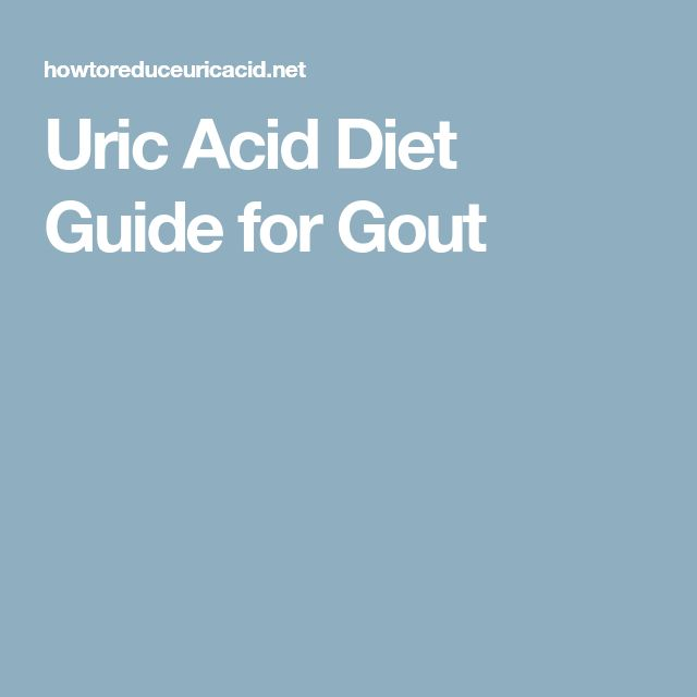 Uric Acid Diet Guide for Gout