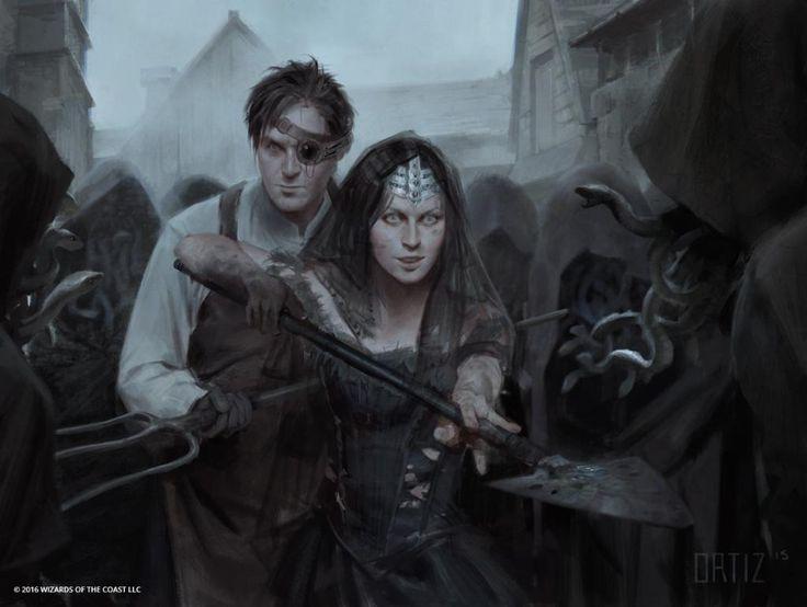 Gisa and Geralf - Eldritch Moon MtG Art Karla Ortiz