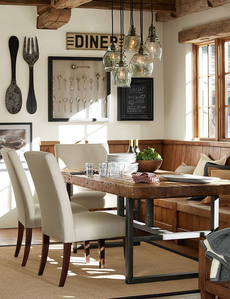 1000 ideas about rustic dining rooms on pinterest for Dinette table decorations