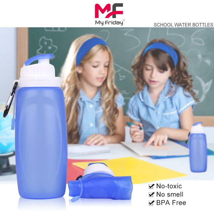 2015 hot sale style cool water bottles for kids,320ml small size cool water bottle kids in school, medical grade silicone water bottle