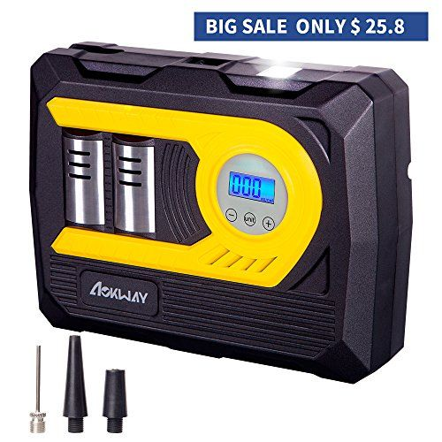 Air Compressor Tire Inflator Digital aokway Portable Auto Air Compressor Premium 12 Volt DC Pump to 100 PSI-Single Cylinder For Sale https://cordlessvacuumusa.info/air-compressor-tire-inflator-digital-aokway-portable-auto-air-compressor-premium-12-volt-dc-pump-to-100-psi-single-cylinder-for-sale/