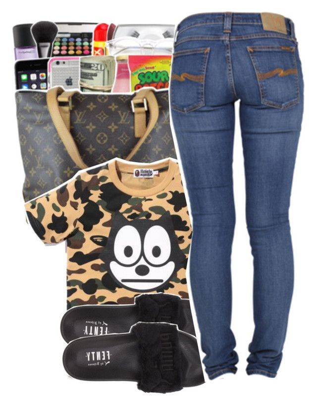"""""""bape star."""" by jas-karcash ❤ liked on Polyvore featuring Puma and Nudie Jeans Co."""