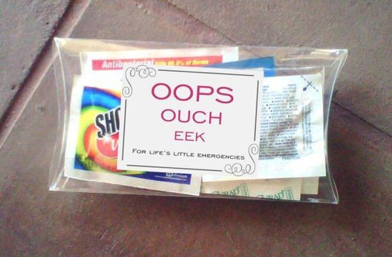 Oops Kit for OOT Boxes :  wedding diy emergency kit first aid oops kit oot box out of town bag Oops Kit 2
