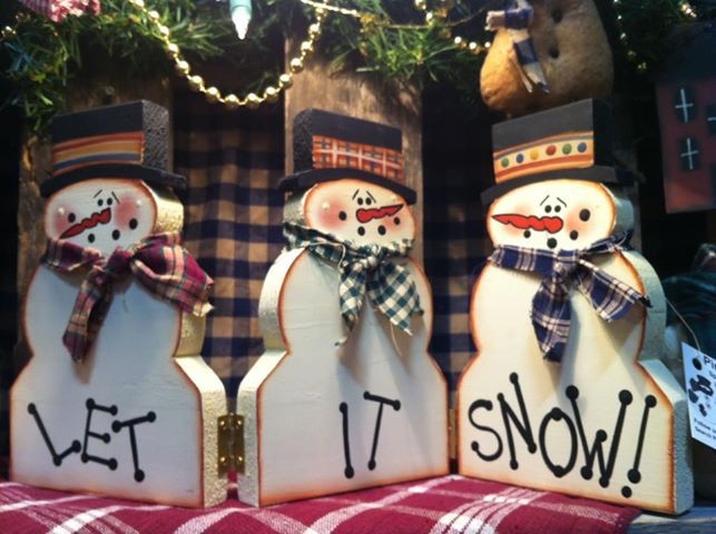 Let it Snow. Will look wonderful on a mantel. Please let me know if you are interested in purchasing one.