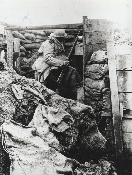 French soldier in trench