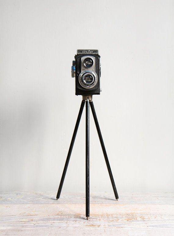 Vintage Ciro Flex Film Camera and Tripod / Photography Display, Twin Lens Camera, Industrial Decor via Etsy