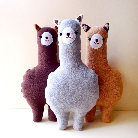 Plush Cushion - Alpaca (Gray)