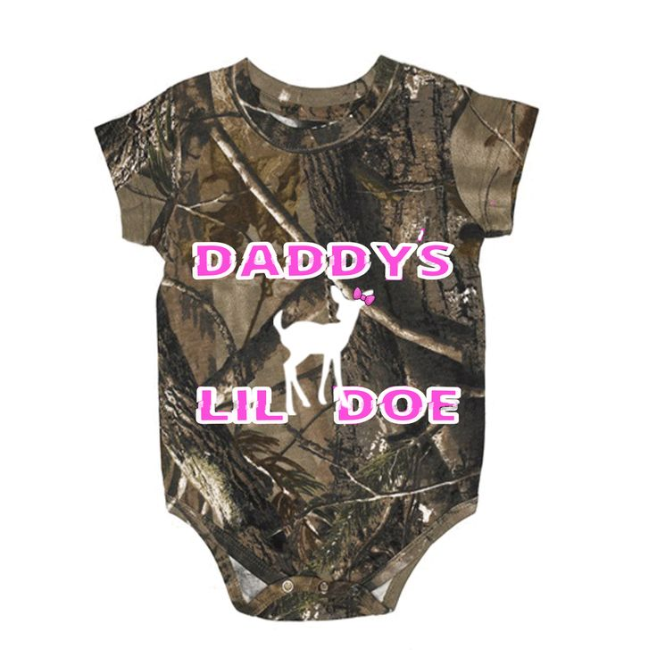 Southern Sisters Designs - Daddy's Lil Doe Realtree Baby Regular Camo One Piece, $15.95 (http://www.southernsistersdesigns.com/daddys-lil-doe-realtree-baby-regular-camo-one-piece/)