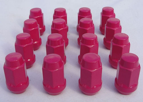 "20 Lugs Powder Coat Pink12x1.5 Lug Nuts Wheel Nut 3/4"" Head Bulge Acorn"